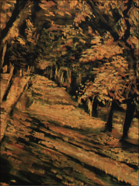expressionist painting of a pathway