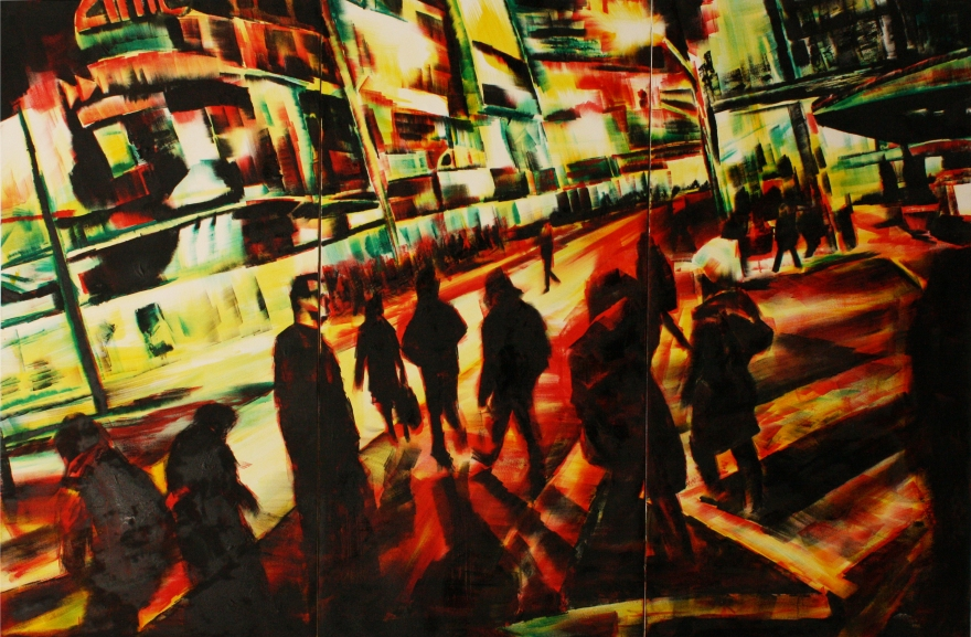 oil on canvas (triptych) 6ft x 9ft 2013