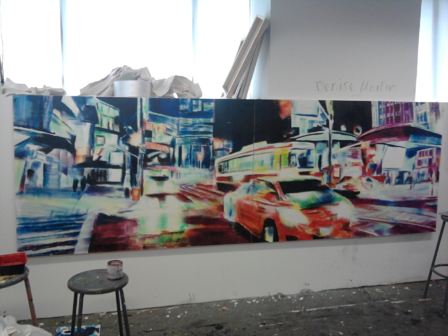 oil on canvas (diptych) 4ft x 12ft 2013
