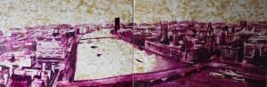 oil on canvas, diptych 3'x9' 2016